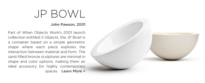 John Pawson JP Bowl when objects work cream white modern home accessories