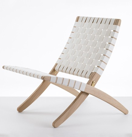 MG501 Cuba Chair Morten Gottler Carl Hansen white folding chair woven strapping danish