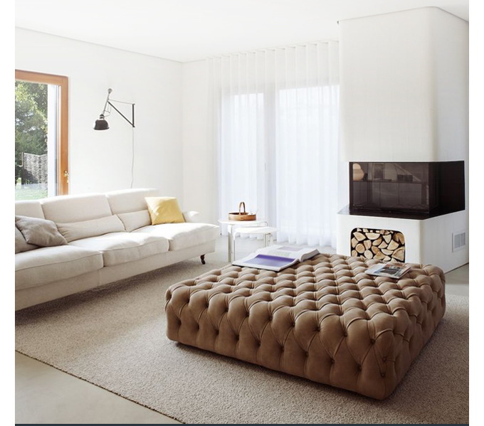 Modern tufted furniture suiteny suite new york contemporary button tufted detail leather