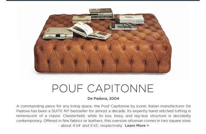 Pouf Capitonne Depadova Tufted Oversize Square Ottoman Leather Italian Design Suiteny
