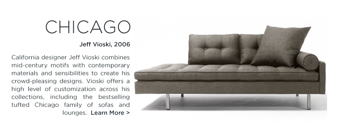 Vioski Chicago Chaise lounge tufting sofa grey modern tufting buttons california design suiteny