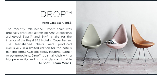 Arne Jacobsen Drop Chair iconic danish side chair fritz hansen tear shaped