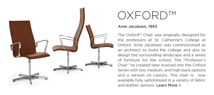 Arne Jacobsen Oxford Chair Fritz Hansen high back task chair wood office furniture