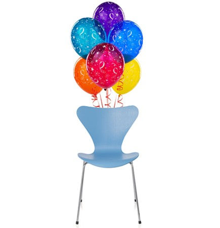 Arne Jacobsen Series 7 chair colorful stacking side chair Tal R colors fritz hansen balloons