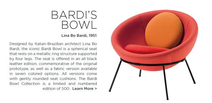 Arper Bardi Bowl Lina Bo bardi round modern lounge chair colorful circular papasan orange