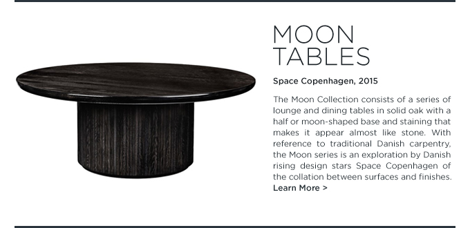 Moon coffee table space copenhagen gubi black stained wood round occasional tables danish modern