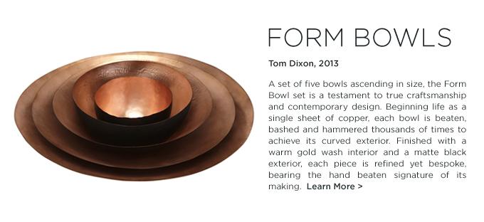 Tom Dixon Form Bowl Set copper nesting bowls metallic home accessories