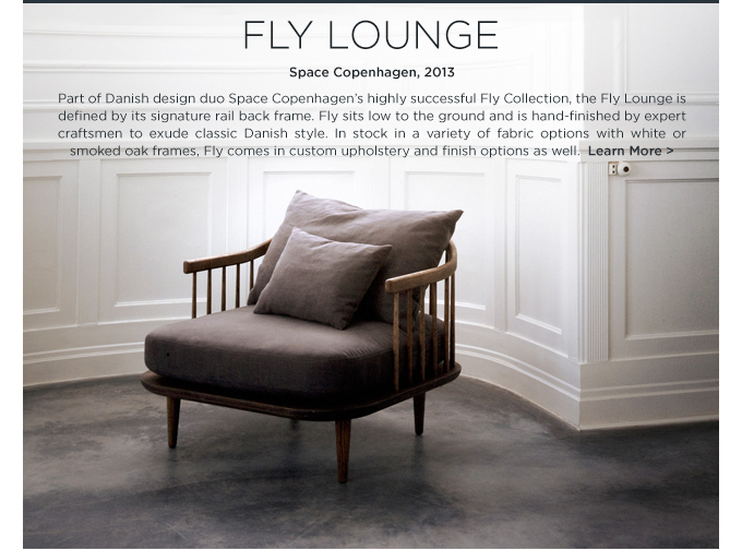 fly lounge chair space copenhagen Andtradition suite ny