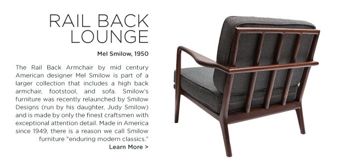 rail back lounge smilow design mel smilow solid walnut suite ny