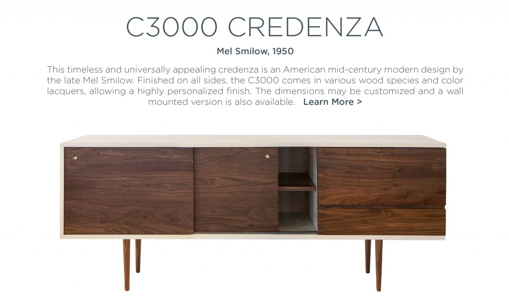 C3000 Credenza Mel Smilow lacquered wood cabinet modern american furniture