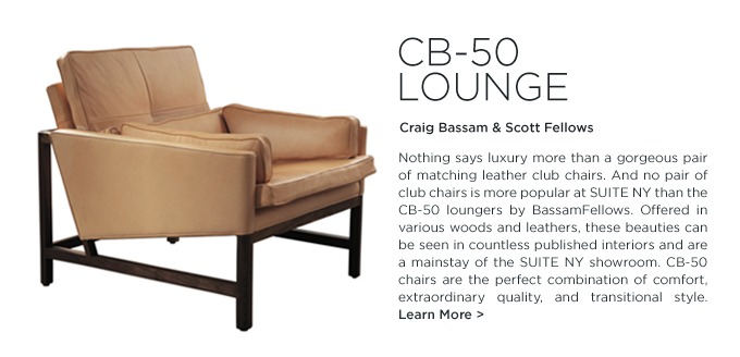 CB-50 armchair bassamfellows suiteny craig bassam scott fellows modern lounge seating cb50 leather club chair taupe
