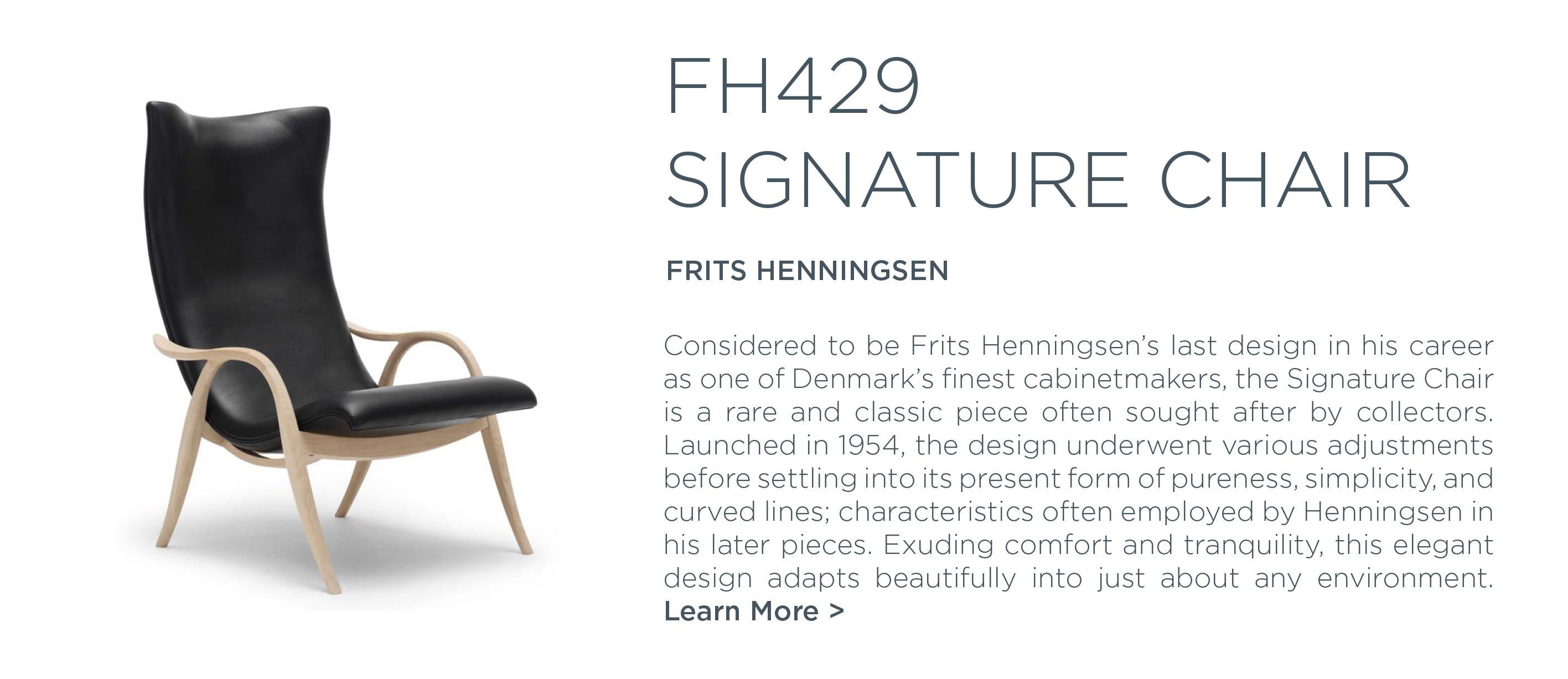 FH429 Signature chair frits henningsen carl hansen and son suite ny new york