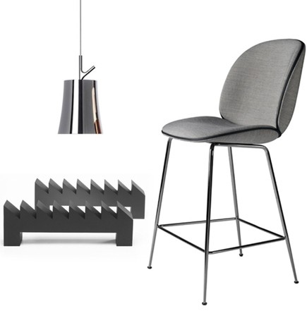 Graphite modern furniture black chrome beetle gamfratesi gubi foscarini birdie modern andiron firedogs 2