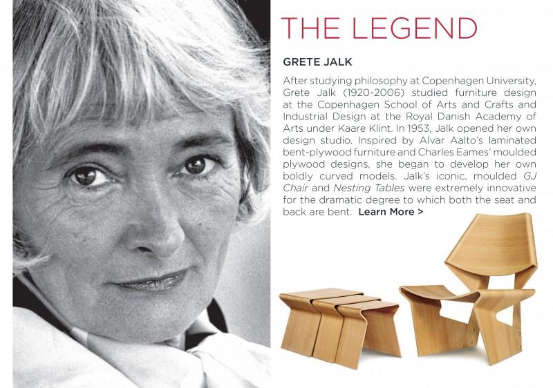 Grete Jalk gj chair table danish designer modern moulded plywood lange production