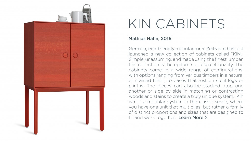 KIN Cabinets Zeitraum Mathias Hahn poppy red modern wood storage suiteny colorful cabinet