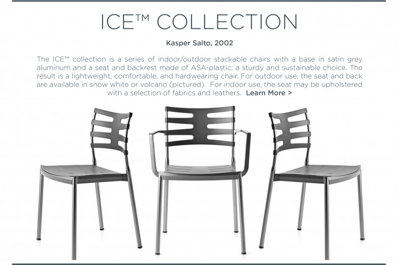 Kasper Salto Ice chair fritz hansen outdoor dining chair charcoal volcano grey matte aluminum