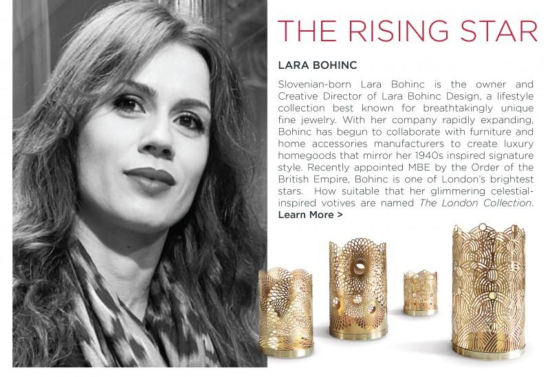 Lara Bohinc london collection votives skultuna brass jewelry designer modern gold home accessories
