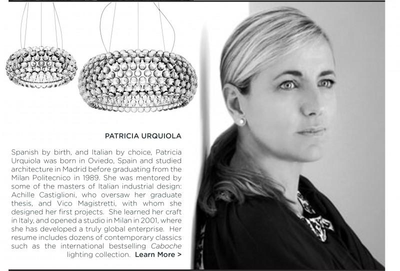 Patricia Urquiola Caboche pendant foscarini italian designer women in design modern clear round hanging light