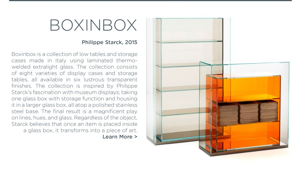 Philippe Starck boxinbox glas italia colorful glass cabinets drawers storage unit box in box