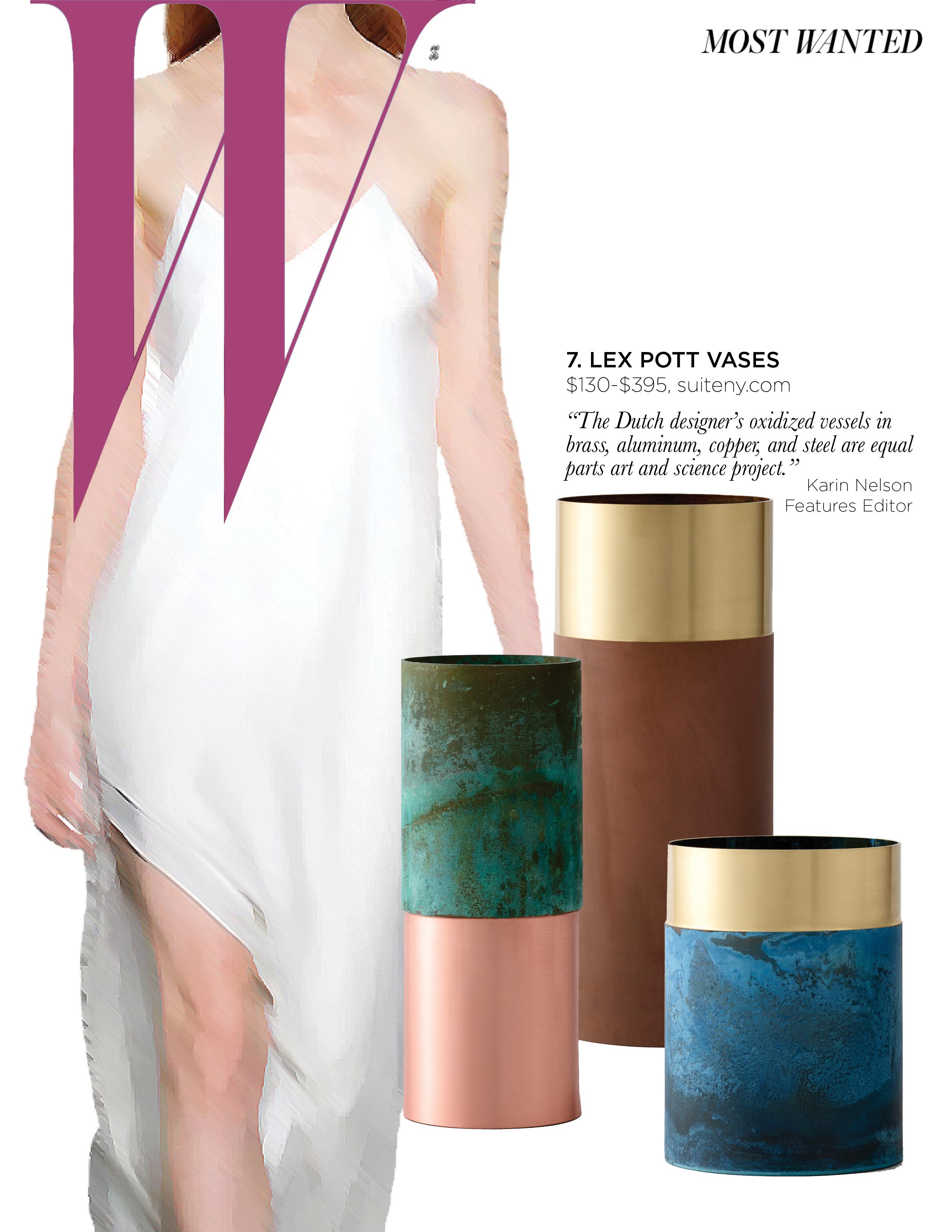 W Magazine True Colour Vases Suite News