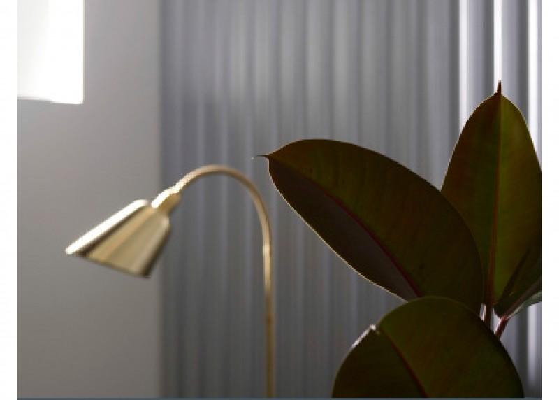 Arne Jacobsen Bellevue floor lamp brass modern danish andtradition gold lighting