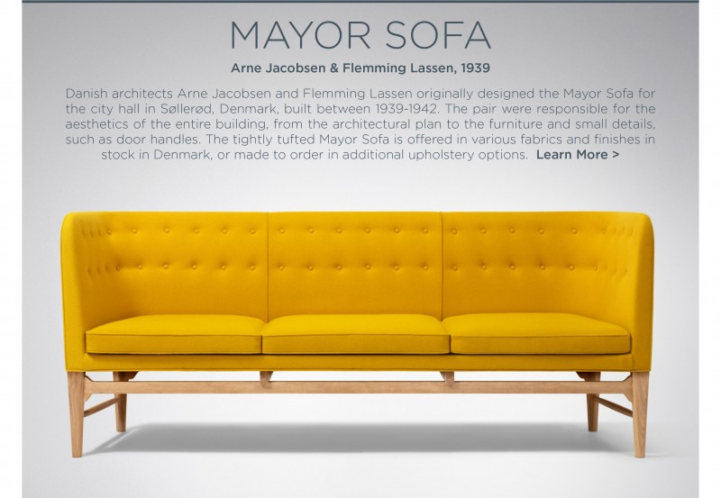 yellow furniture. Yellow Furniture. Mayor Sofa Arne Jacobsen Andtradition Suiteny Modern Furniture Amber Golden Saffron
