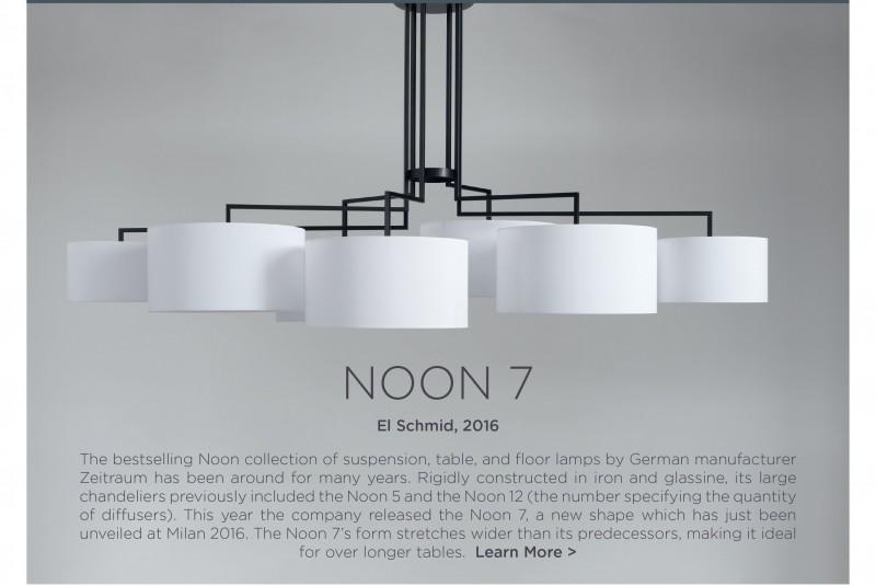 Noon 7 chandelier Zeitraum El Schmid black iron modern suspension lighting 1