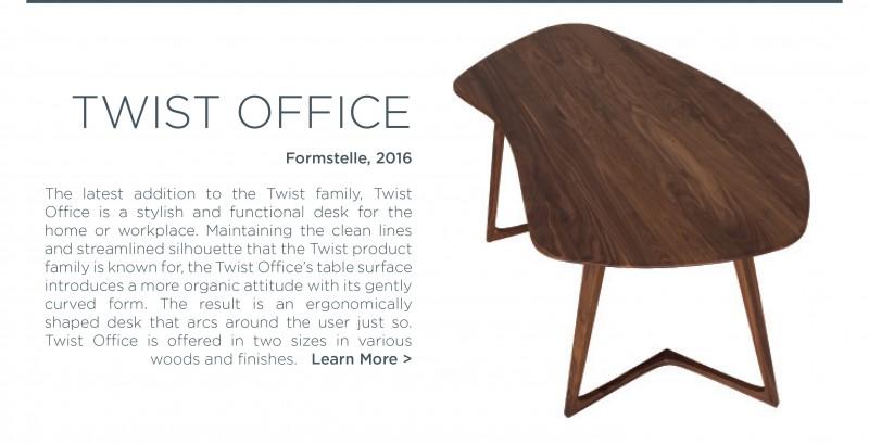 Twist Office Zeitraum Formstelle wood desk organic shape german design modern walnut