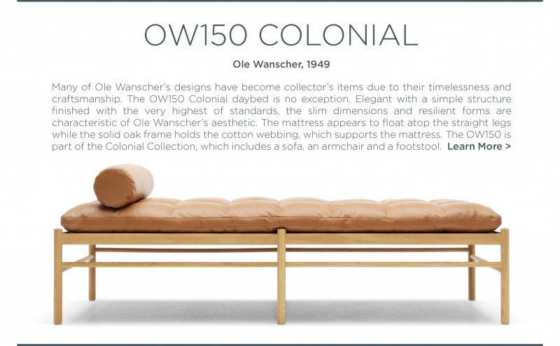 ow150 colonial daybed ole wanscher suite ny carl hansen and son
