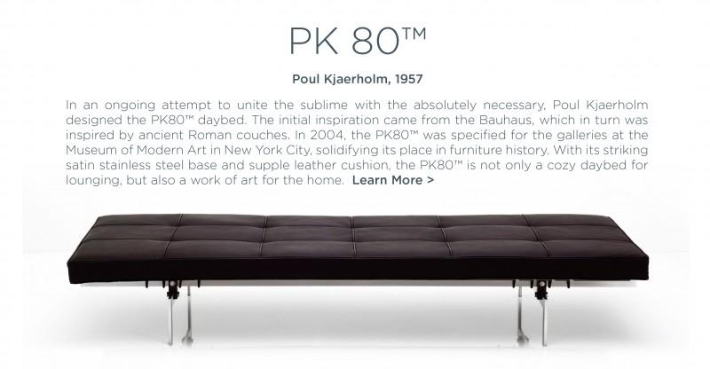 pk80 daybed lounge poul kjaerholm fritz hansen suite ny