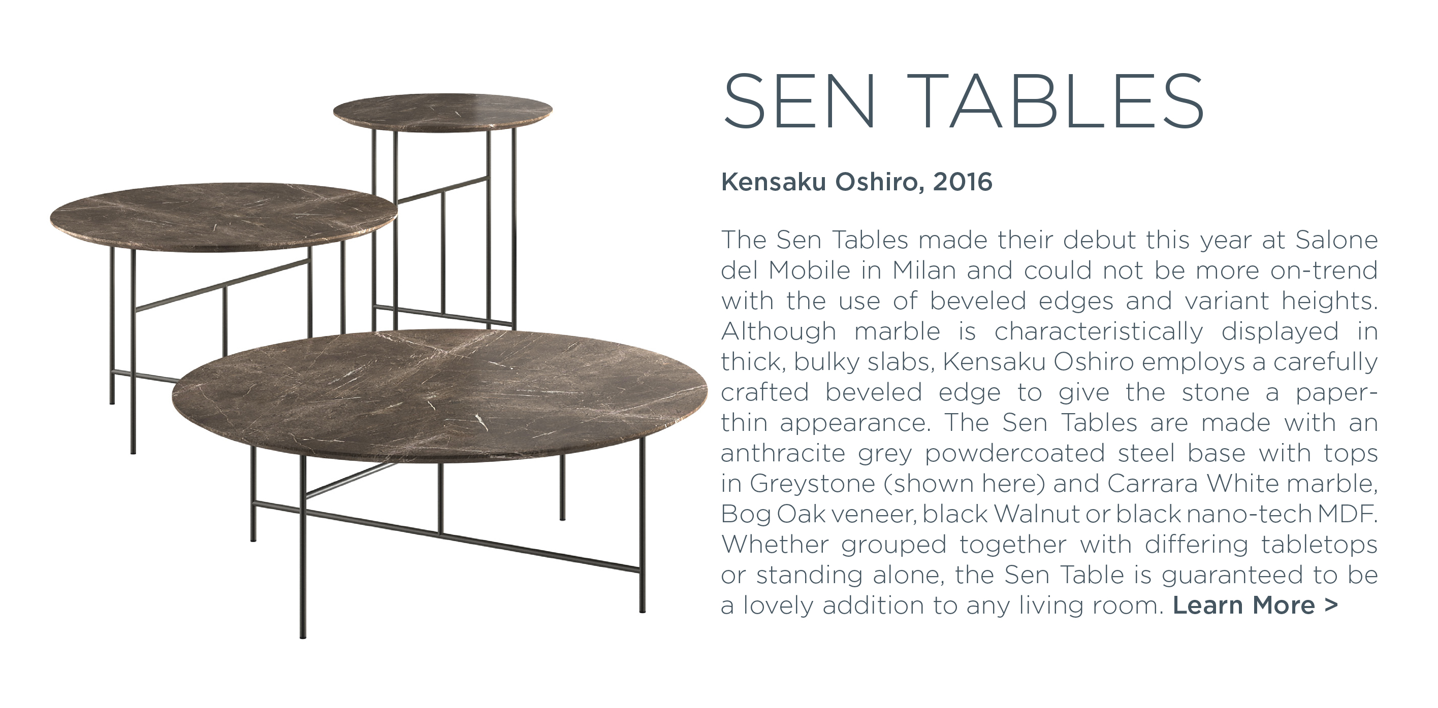 Sen Tables, kensaku oshiro, depadova, de padova, marble occasional tables,  stone coffee tables, luxury designer furniture, japanese design, italian luxury brands, suite ny, suite new york