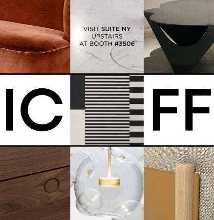 SUITE NY ICFF 2016 booth modern furniture showroom