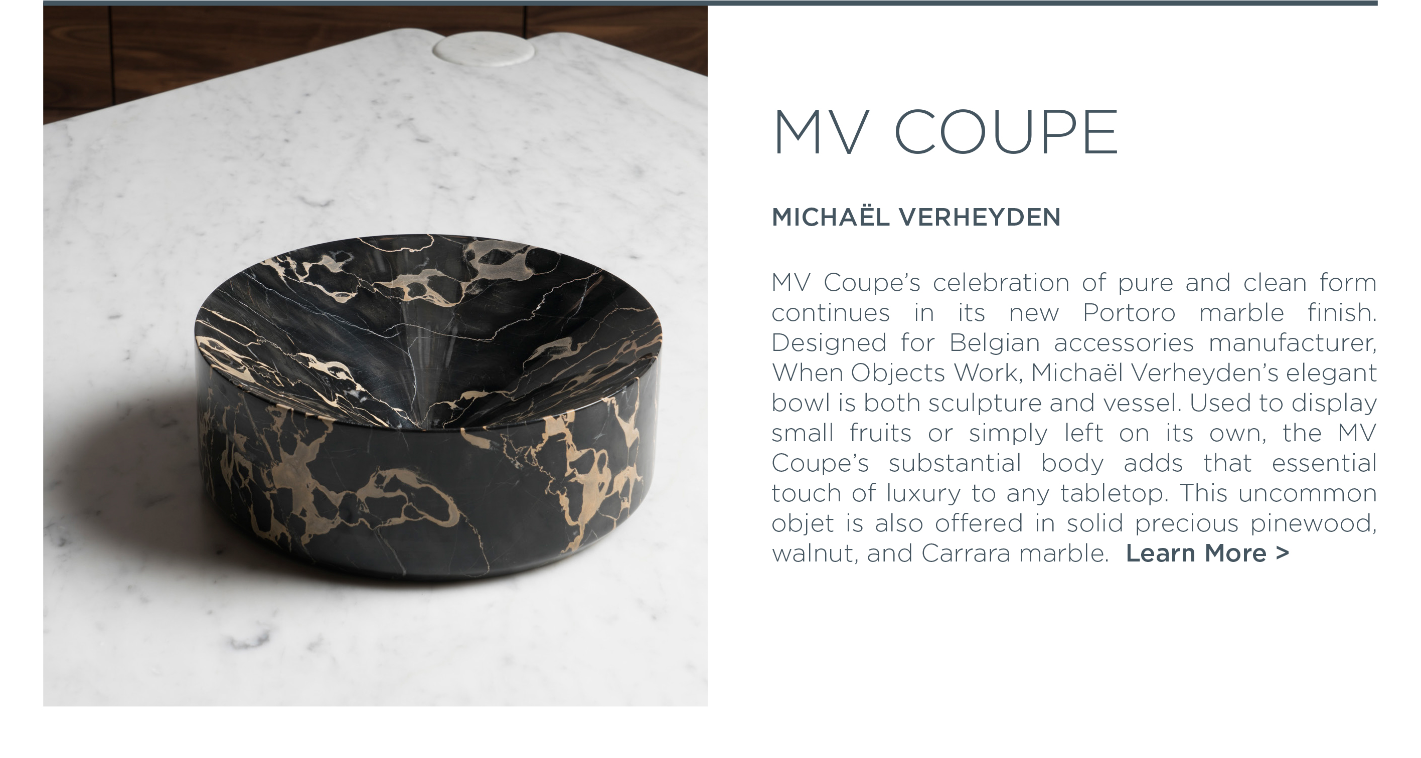 ... York Icff 2016 Mv Coupe Portoro Marble Bowl Michael Verheyden When  Objects Work Luxury Tabletop Accessories Suite