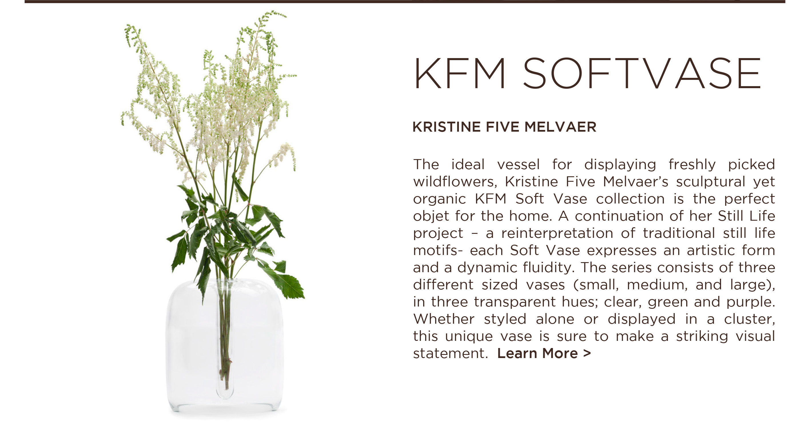 KFM softvase kristine five melvaer when objects work scandinavian luxury tabletop accessories vases suite ny