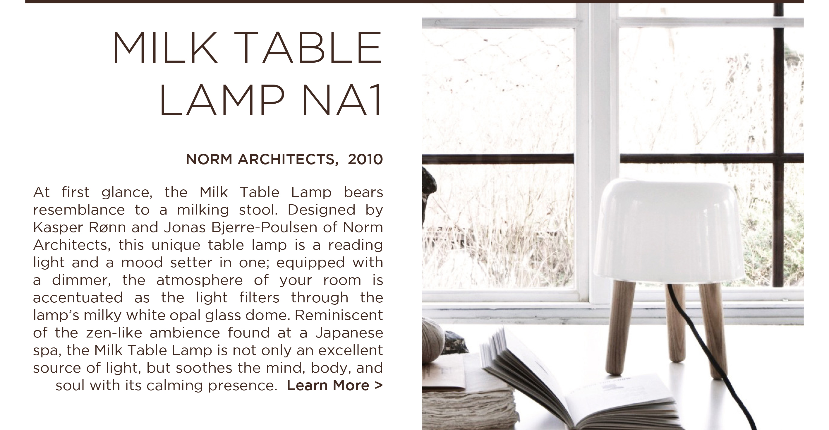 NA 1 milk table lamp norm architects andtradition copenhagen danish designer lighting suite ny