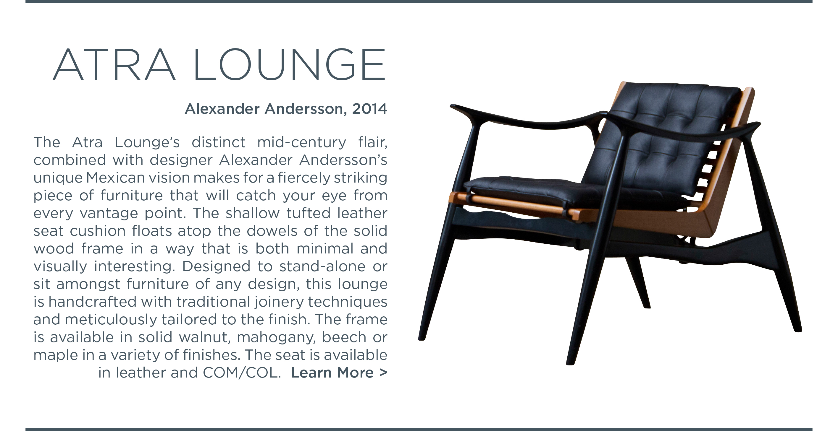 2 atra lounge chair luteca suite ny alexander andersson