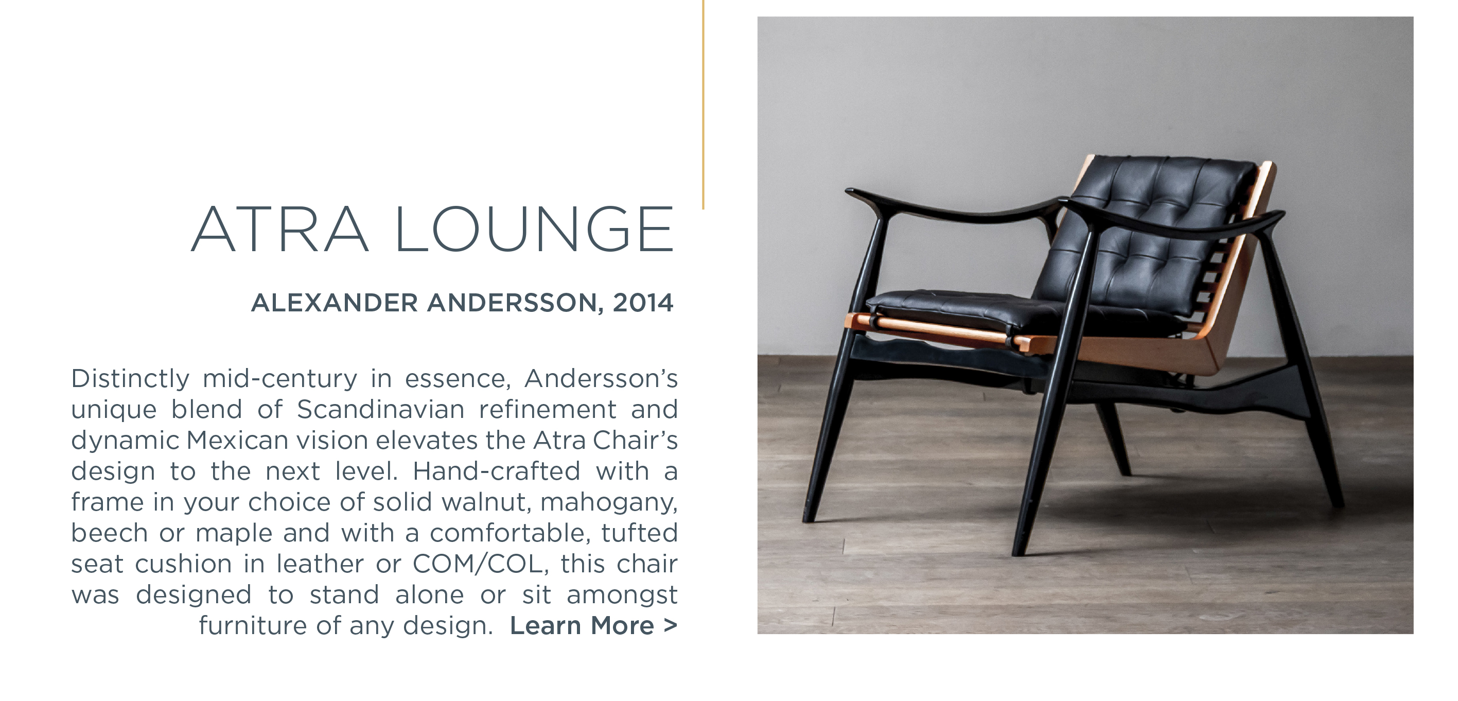 2 atra lounge chair suite ny luteca alexander andersson