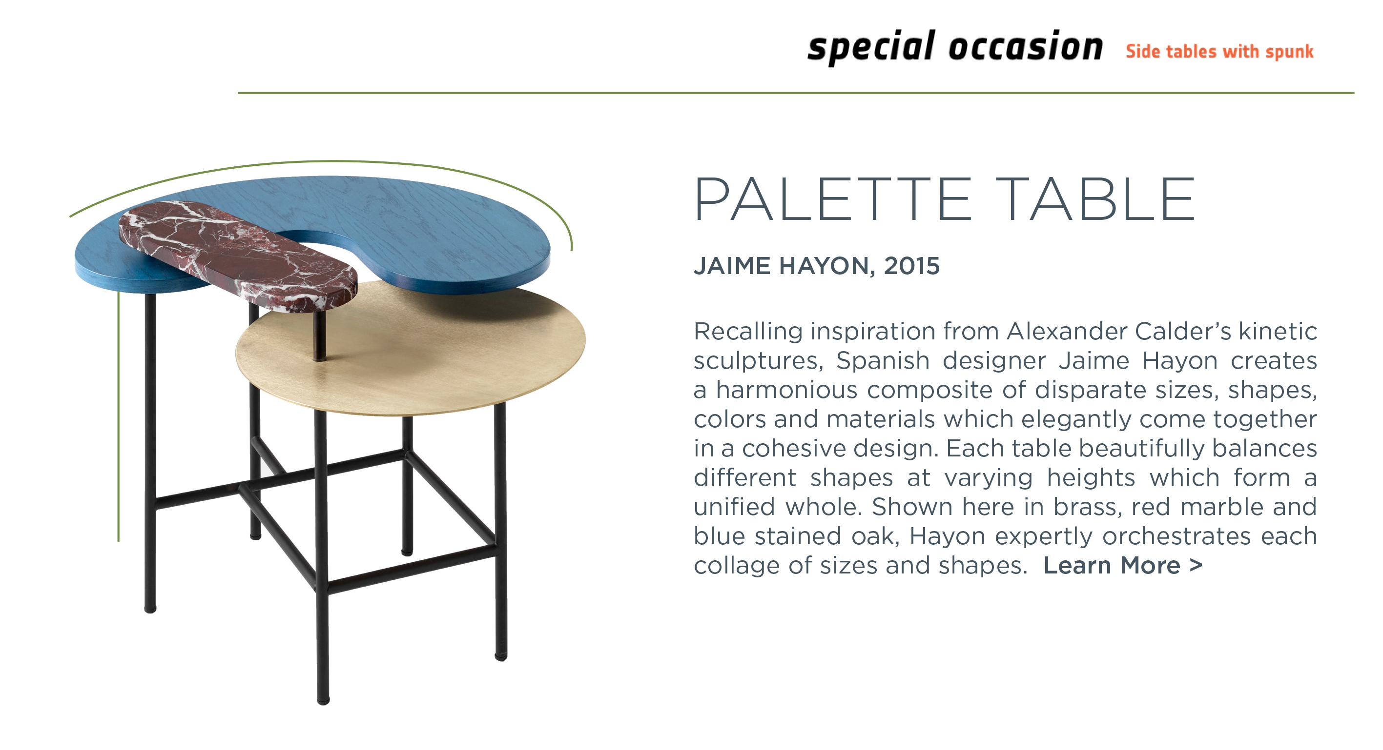 3 palette table jaime hayon suite ny andtradition