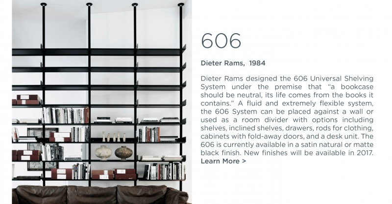 606 shelving system dieter rams depadova suite ny
