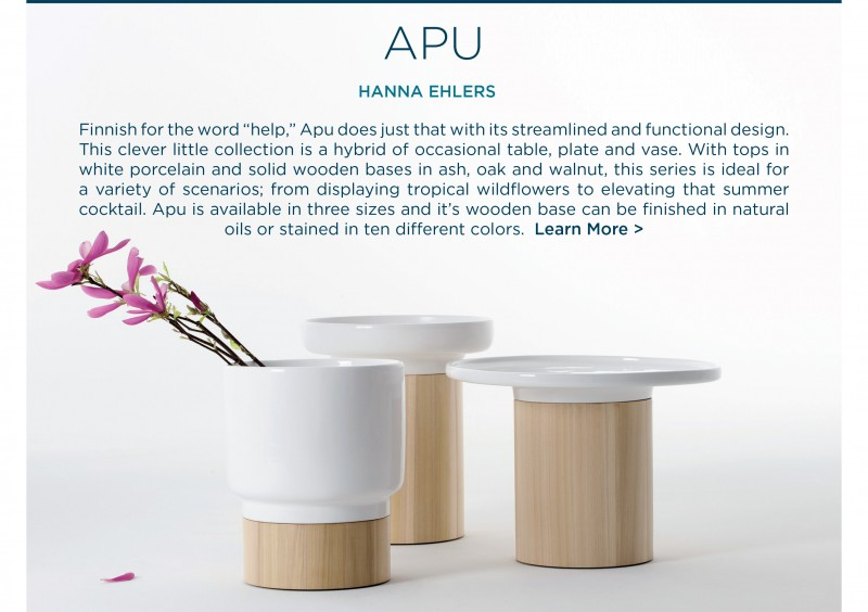 Apu occasional tables vases vessels hannah ehlers zeitraum german contemporary designer accessories suite ny new york