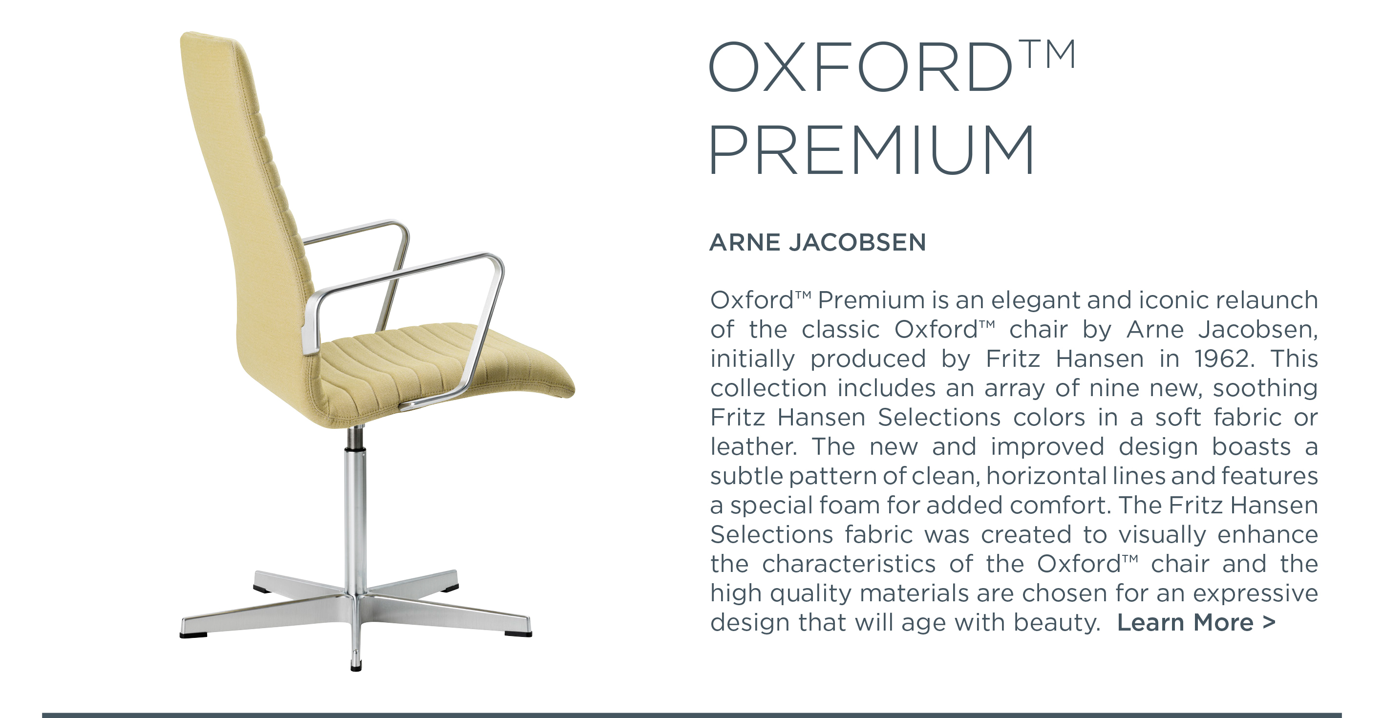 Oxford Premium arne jacobsen fritz hansen suite ny suite new york