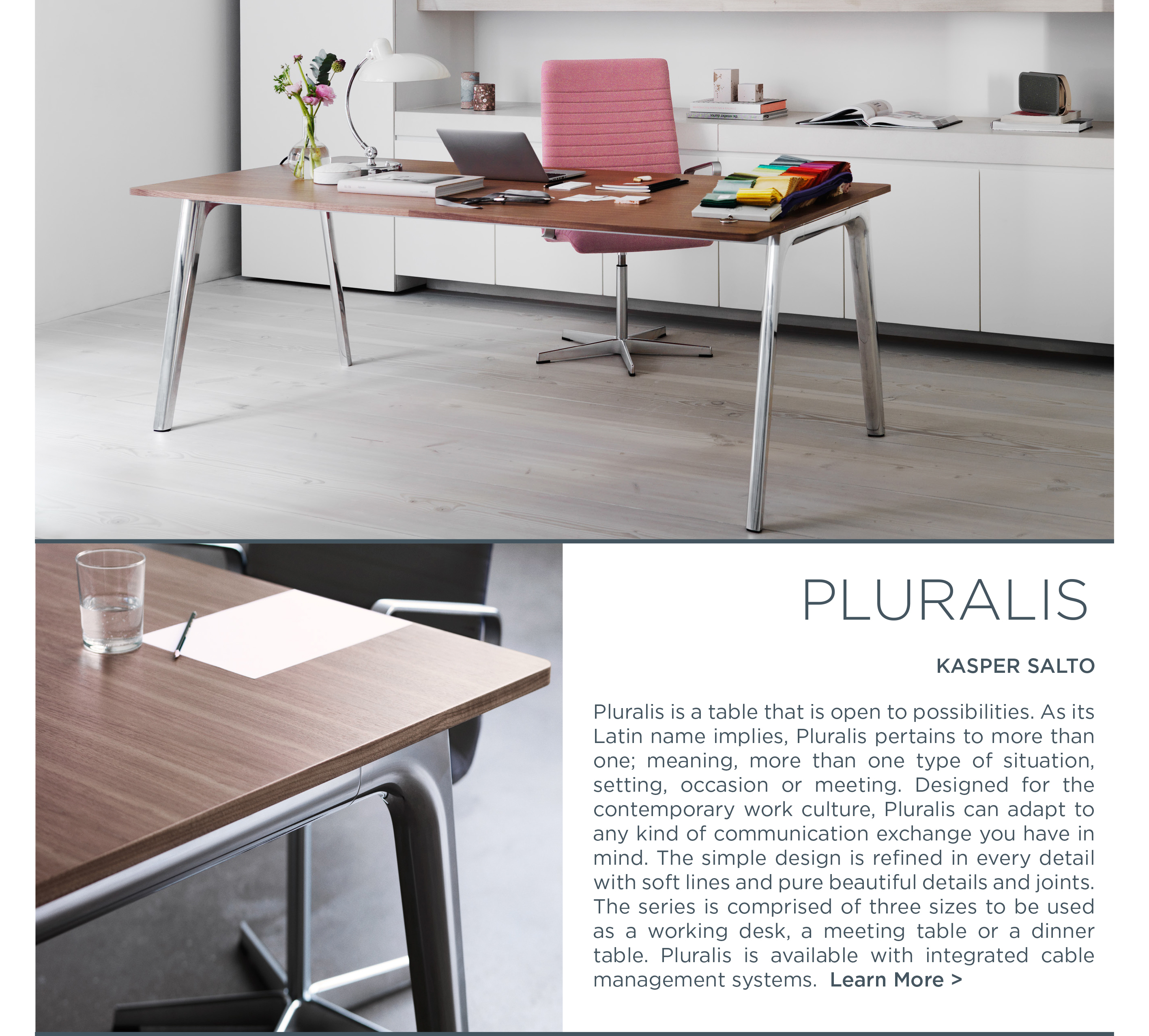 Pluralis table fritz hansen kasper salto suite ny suite new york