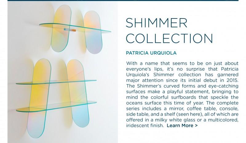 Shimmer collection shelves patricia urquiola glasitalia designer glass furniture italian contemporary suite ny new york