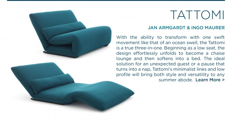 Tattomi daybed chaise lounge jan armgardt ingo maurer depadova italian designer lounge furniture suite ny suite new york