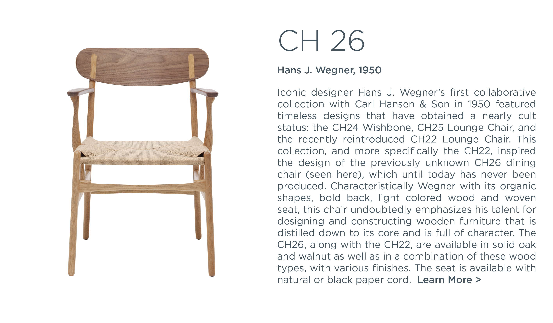 ch26 hans j wegner carl hansen and son suite ny