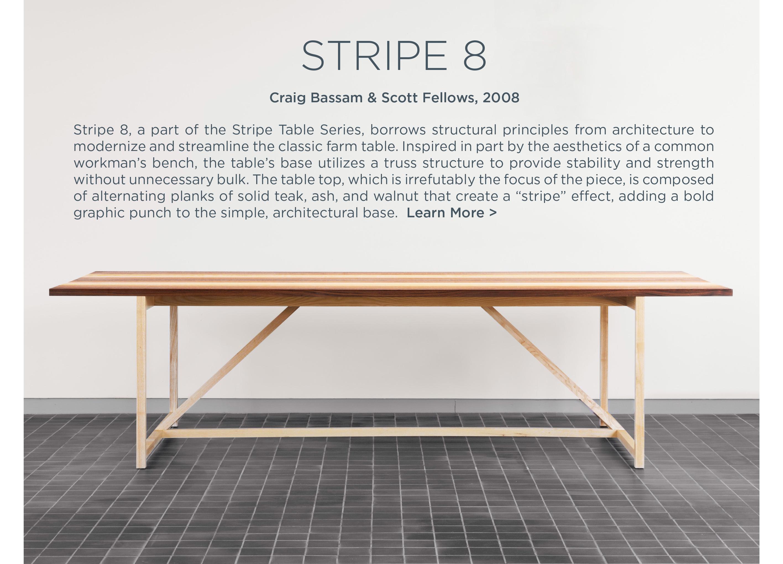 stripe 8 eight table suite ny bassamfellows criag bassam scott fellows