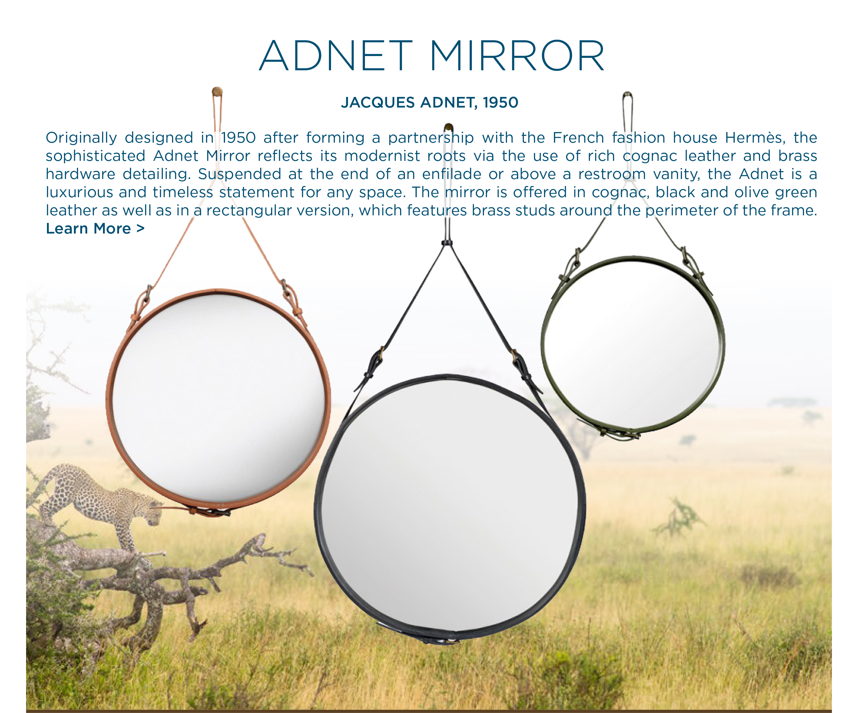 Adnet mirror jacques adnet gubi suite ny new york