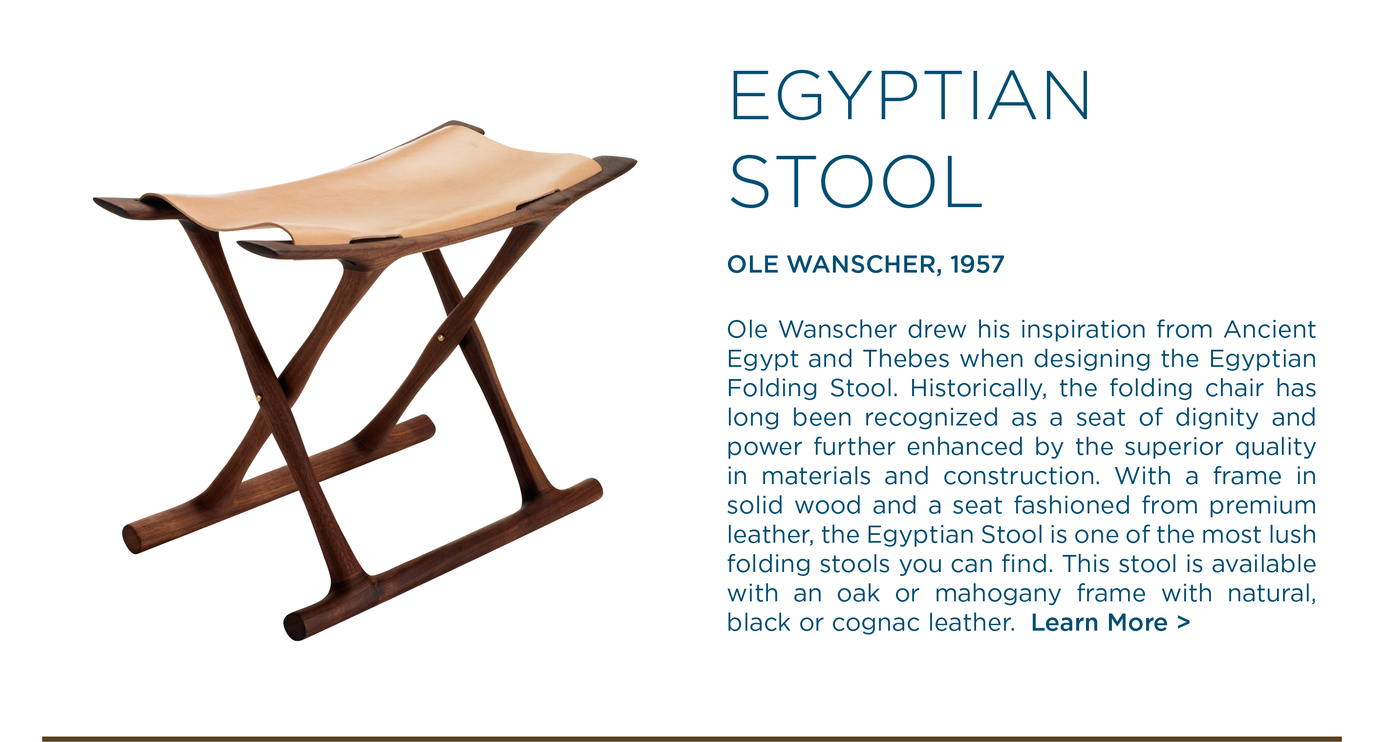 OW2000 Egyptian folding stool ole wanscher carl hansen and son suite ny suite new york