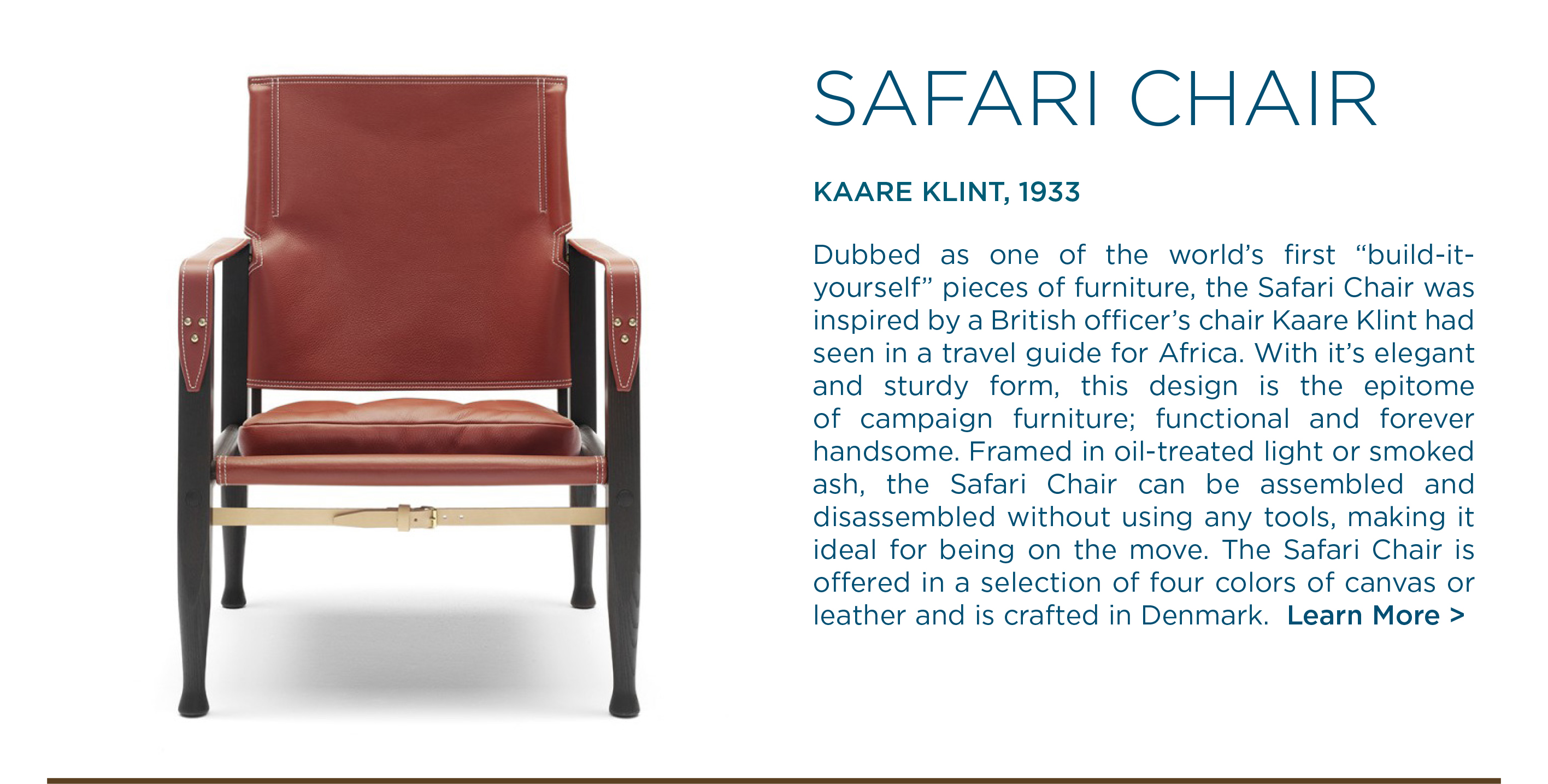 kaare klint carl hansen and son safari chair suite ny