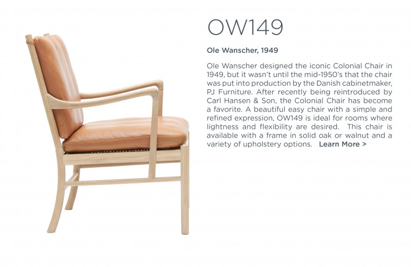 ow149 colonial chair carl hansen and son suite ny